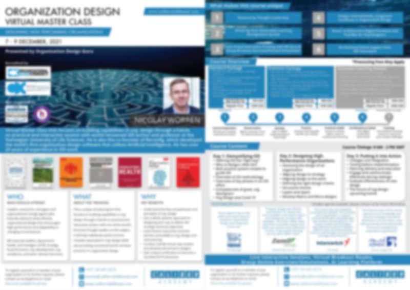 Virtual Organization Design Master Class December 7-9 2021